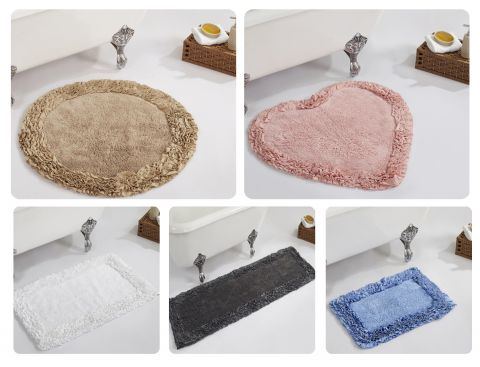 Shaggy Border Bath Rugs