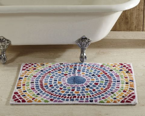 Picasso Mosaic Bath Rugs