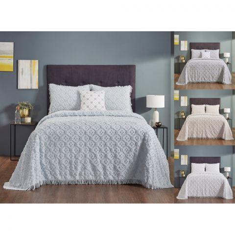 Charleston 100 Percent Cotton 4-Pieces Bedspread Set