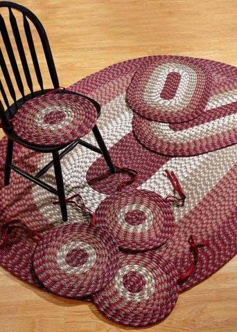 Alpine Braided Striped 7PC Rug Set