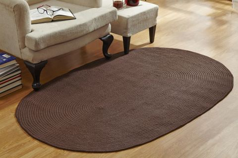 Country Braided Solid Rugs