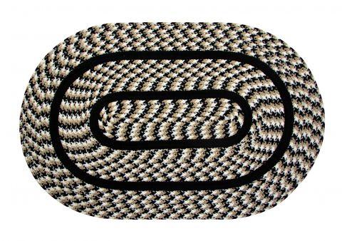 Crecent Collection 100% Polypropylene Area Utility Rug
