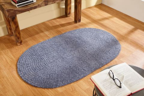 Chenille Reversible Solid Braided Rugs