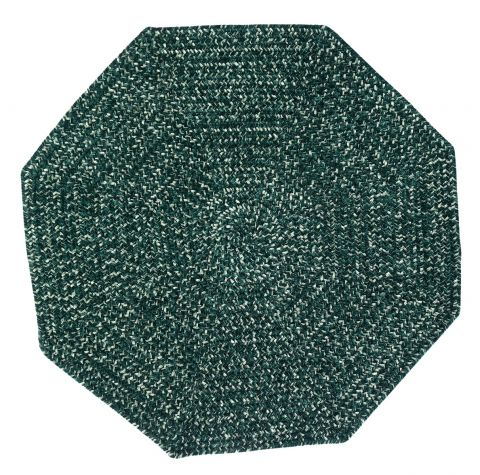 Chenille Reversible Tweed Octagon Braided Rugs