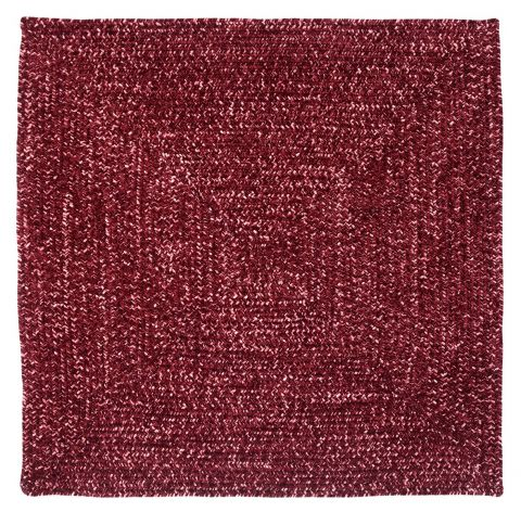 Chenille Reversible Tweed Square Braided Rugs