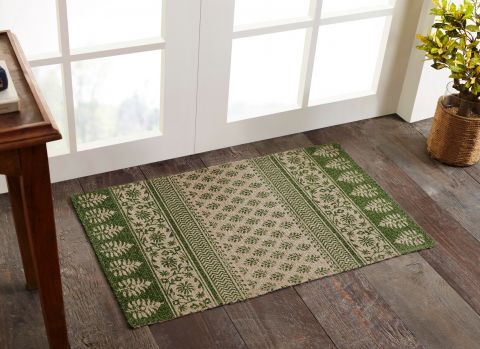 """Majestic Collection 100% Natural Jute Woven Area Rug, 21"""" x 34"""" Rectangle, Green"""