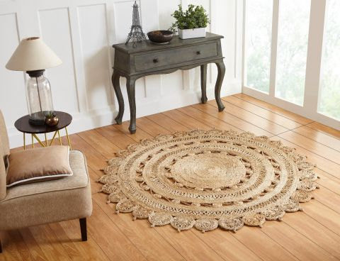 Signature Collection 100% Jute Braided Area Rug