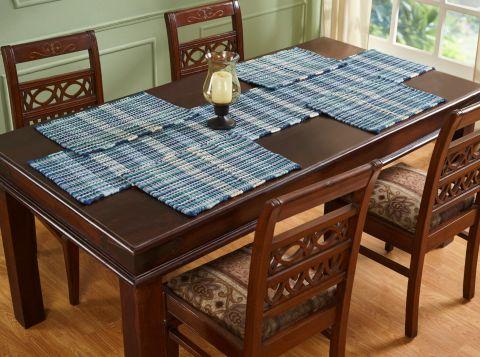 Cottage Plaid Collection 4 Piece Set 100% Cotton Table Placemat