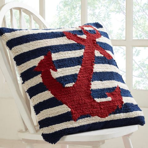 """Better Trends Nautical Collection 18"""" Square Pillows"""