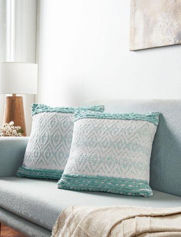 Danika Diamond Collection 2 Piece Set Square Pillows