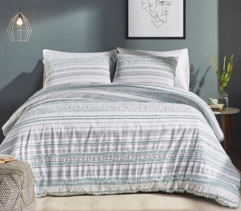 Better Trends Diana Stripe 100% Cotton Stripe Pattern Comforter Set