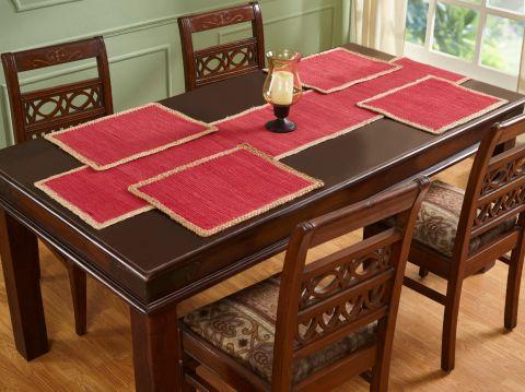 Element Border Collection 4 Piece Set 100% Cotton Table Placemat