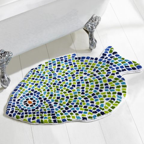 Mosaic Fish Bath Rugs