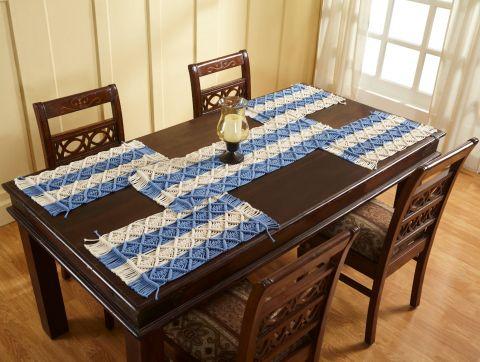 Macrame Multi Collection 4 Piece Set 100% Cotton Table Placemat