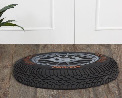 Tire Collection Rubber Coir Mat